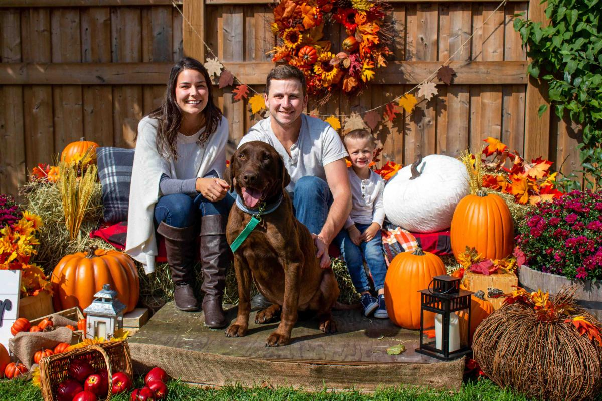 Fall family photo